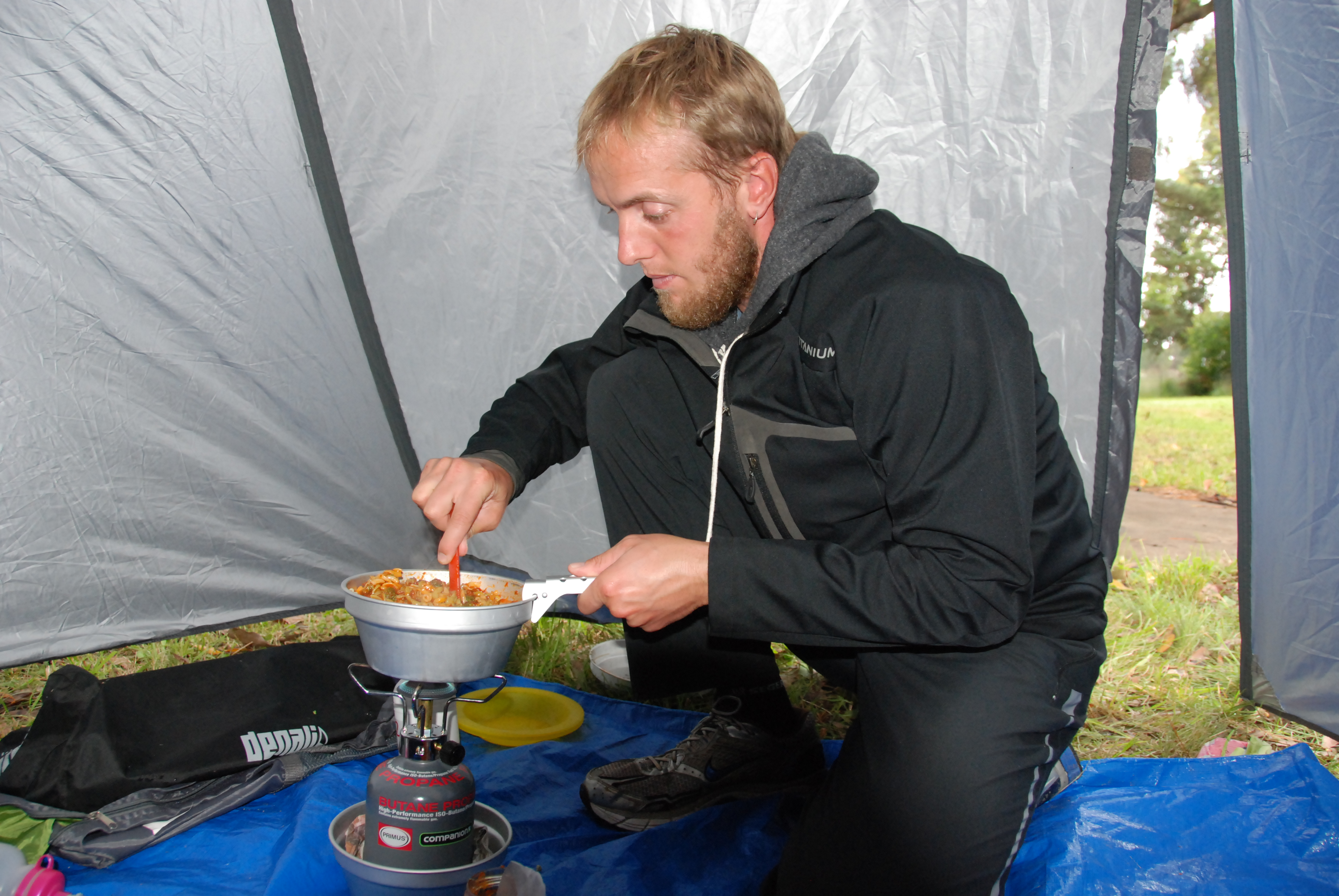 Cooking inside our tent in the first two weeks we had 10 days of rain.  sc 1 st  Life is GOOD follow us & Australia 2010-11 | Life is GOOD follow us