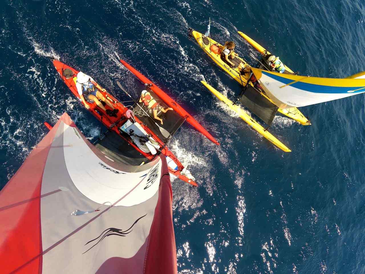 Une famille danoise en kayak
