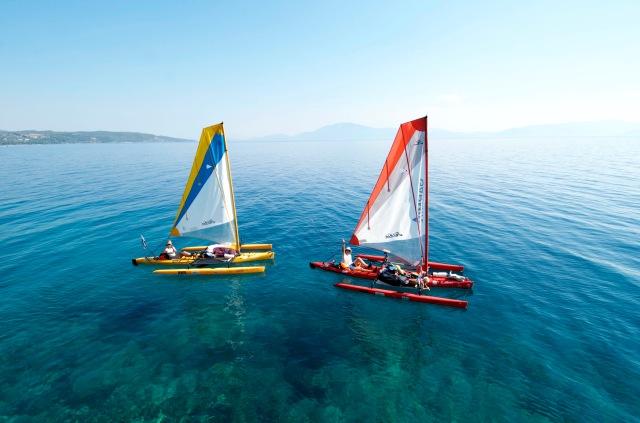 Two kayaks, Evia island